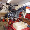 """""""Getting to know you.....""""   Winter maintenance included lubing drive shaft splines and checking swing arm bearings."""