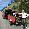 May 6th.  Bob on the Coquihalla Connector.  Aided by Wayne's Towing and Salvage Service.