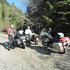 May 19th.  Terry, Bob and I rode south on Chute Lake Rd.  Once on the old KVR bed we backtracked to the Bellevue Trestle.