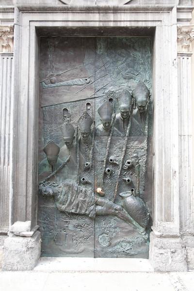 Church doors in Lljubljana