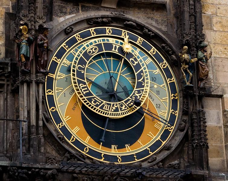 clock in Prague cental square