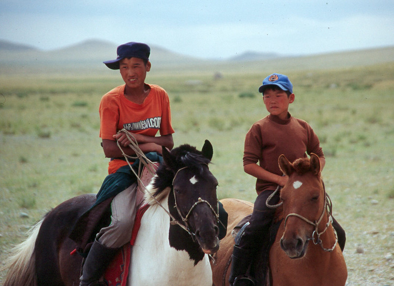 young curious Mongolians