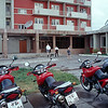 our hotel in Ulan Batar with our bikes in front