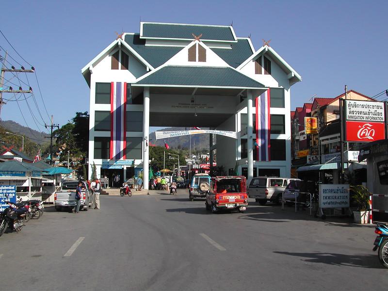 Gate between Thailand and Myanmar at Tachilek Northern Thailand trip.