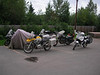 Assortment of bikes for those camping at the House of Harley in Anchorage, Alaska - CO2AK08