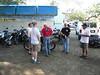 Jim admires Bill's bike w/ Bill, Dan, Stuart and Nelson