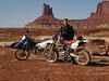Dale with bikes at canyon edge near Candlestick Tower