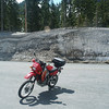 My KLR650 at the Cayuse Pass Summit.