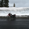 My KLR650 at the top of Chinook Pass.