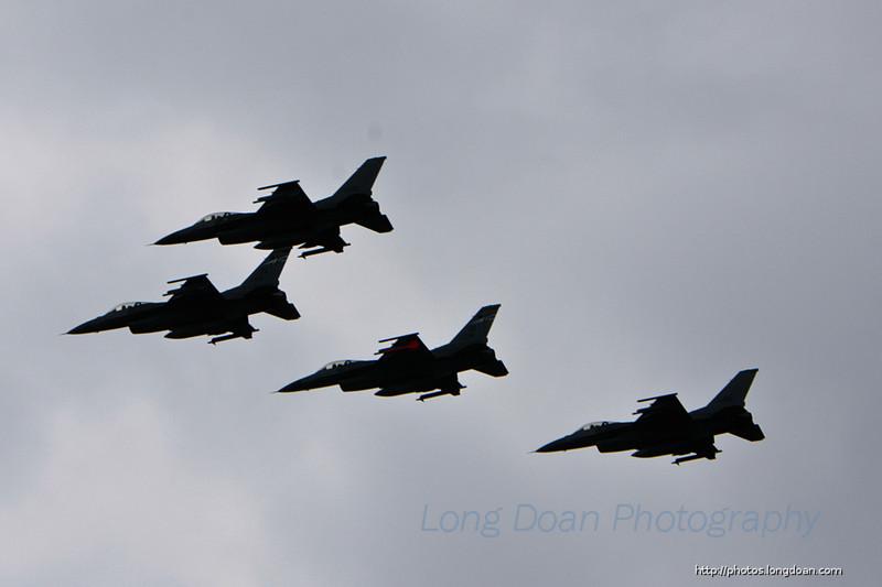 F-16 flyover