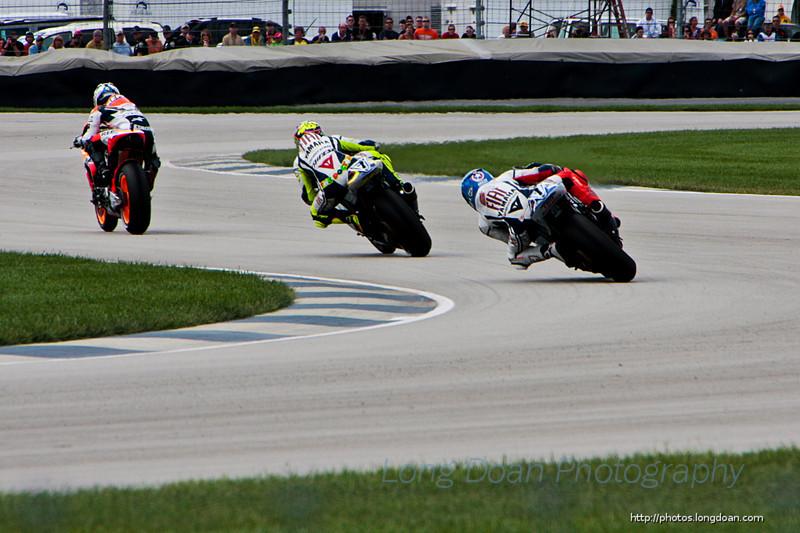 Danni Pedrosa, Valentino Rossi, and Jorge Lorenzo