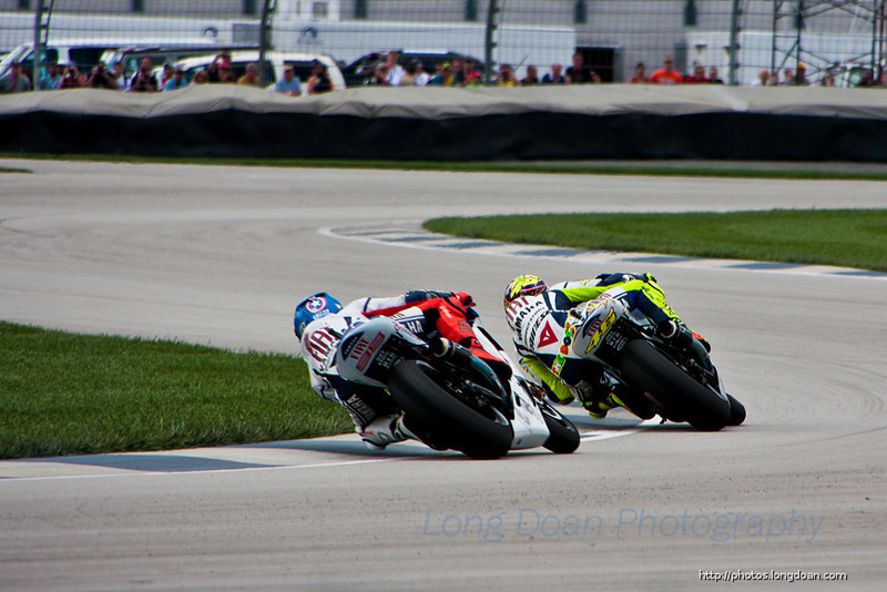 Valentino Rossi and Jorge Lorenzo at Indy MotoGP
