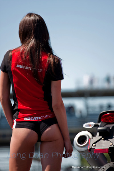 At the Ducati fashion show.