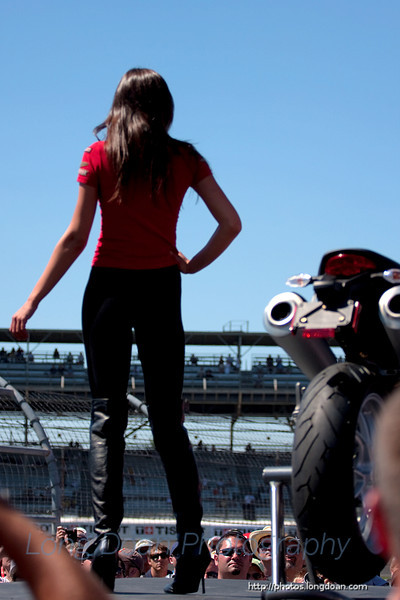 At the Ducati fashion show.