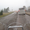 This is route 14a in Wyoming. They were doing road work, it was raining and 37 degrees.   Cool, Wet and Muddy!