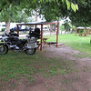 First time at a KOA campground, it was ok,  Good for a good quick, cheep stop. We got set up quickly, it started Hailing on us just as we got it all set up.  This is a pic of the next morning as we were leaving