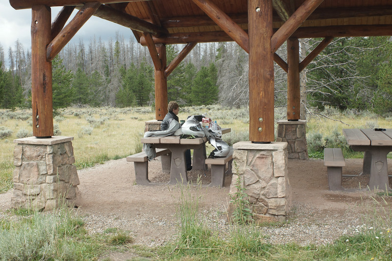 Rocky Mountain National Park<br /> Stopped for a little picnic at this shelter and we had visitors..........