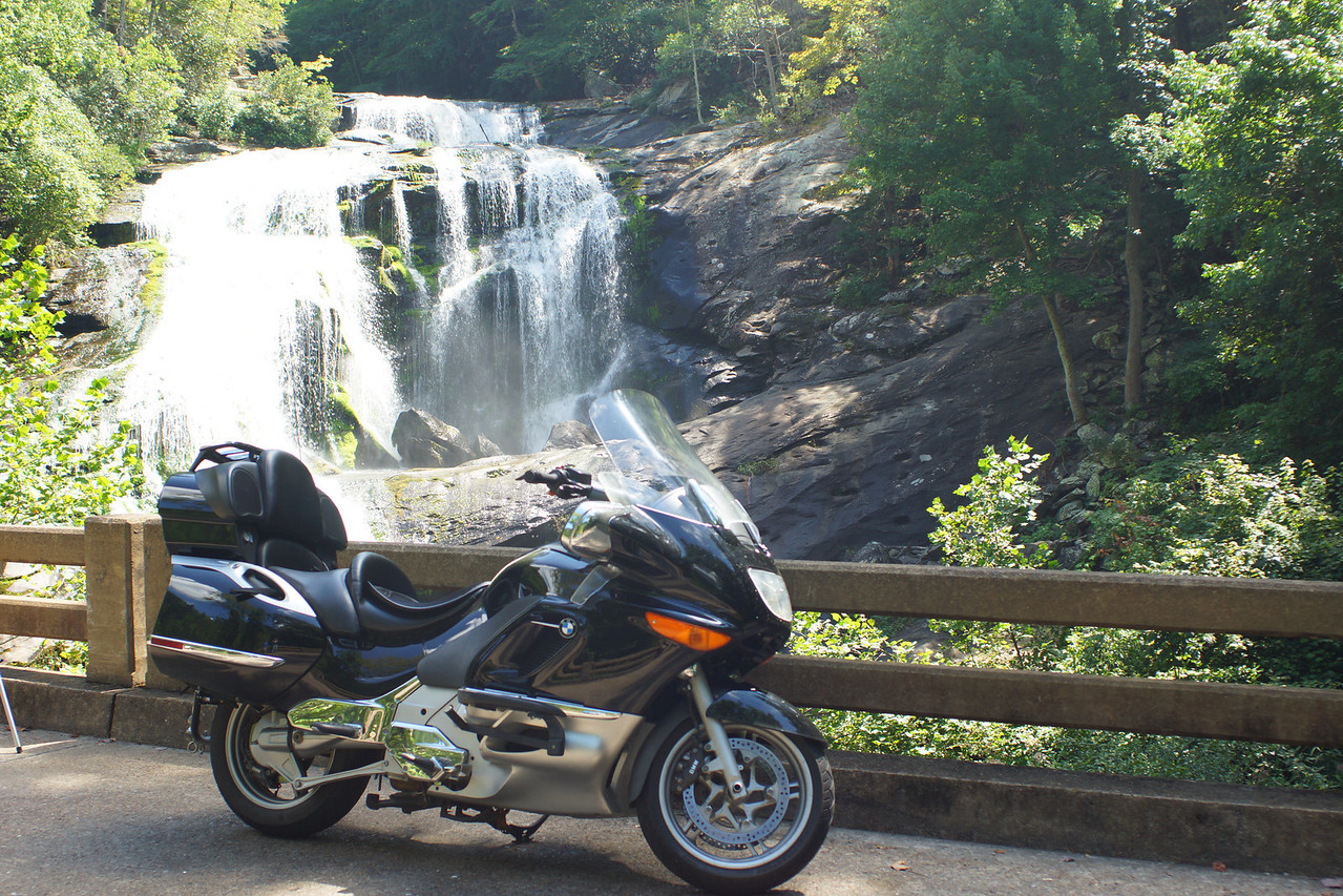 Our BMW K1200LT  Bald River Falls, Near Tellico Plains, Tennessee