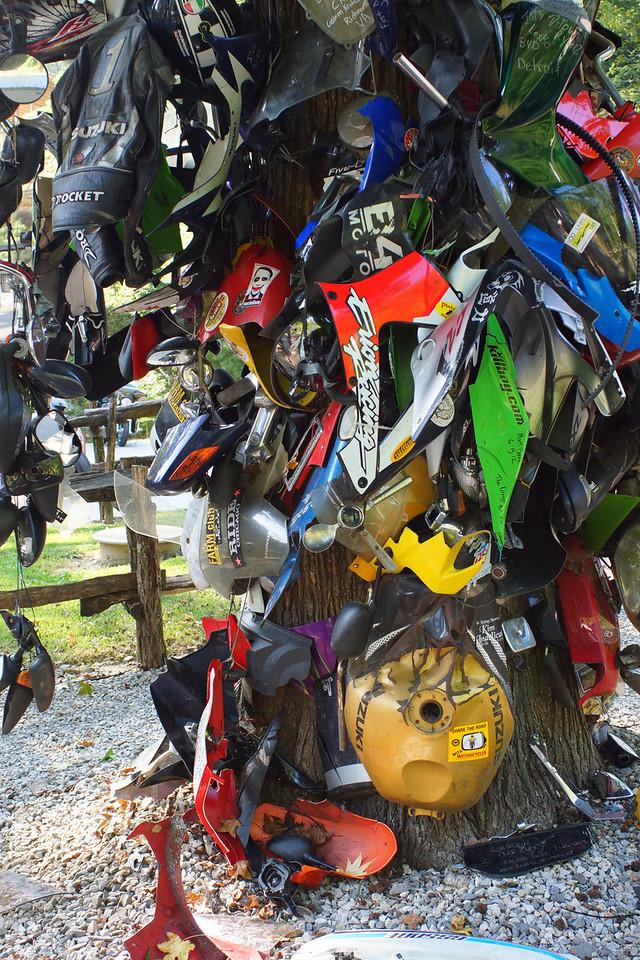 Tree of Shame, Deals Gap Motorcycle Resort Deals Gap, North Carolina