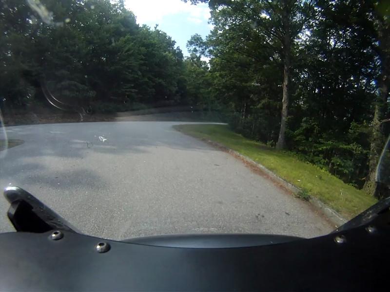 Blue Ridge Parkway southbound ending in Pisgah.