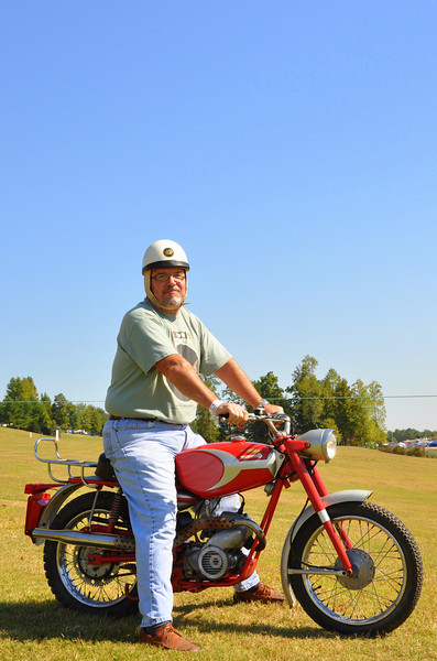 Steve Hatfield and his Ducati Mountaineer