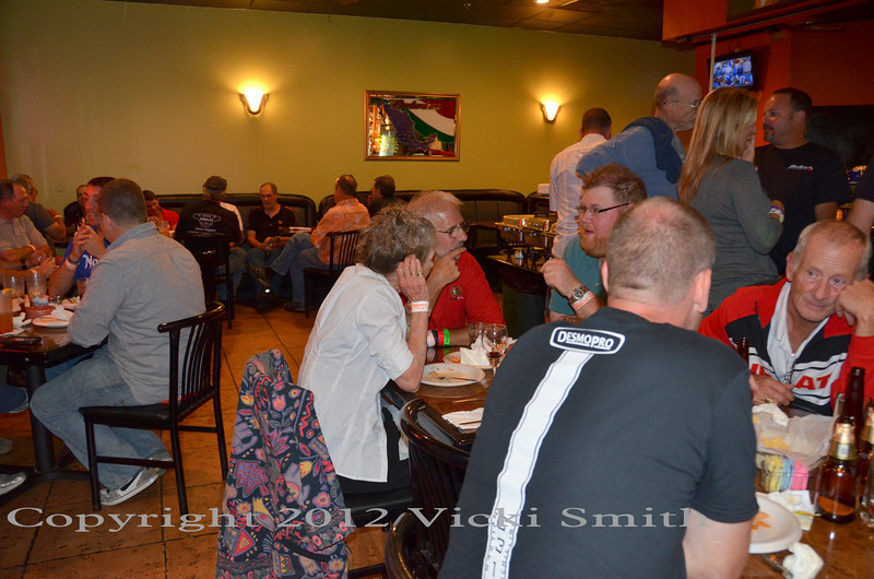 Sat.night was a Ducati group dinner - Mexican buffet for the group
