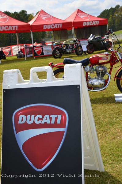 Ducati Parking at Ducati Corner