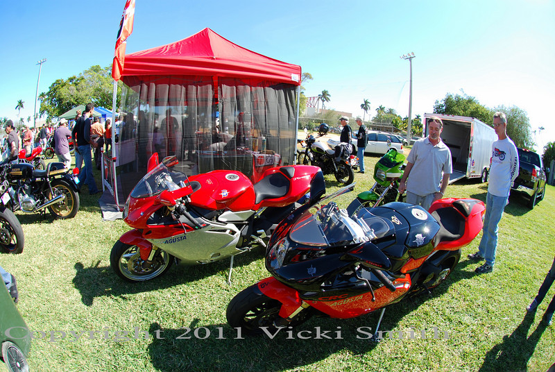 Lots of exotica, MV Agusta's and even a Bimota as well