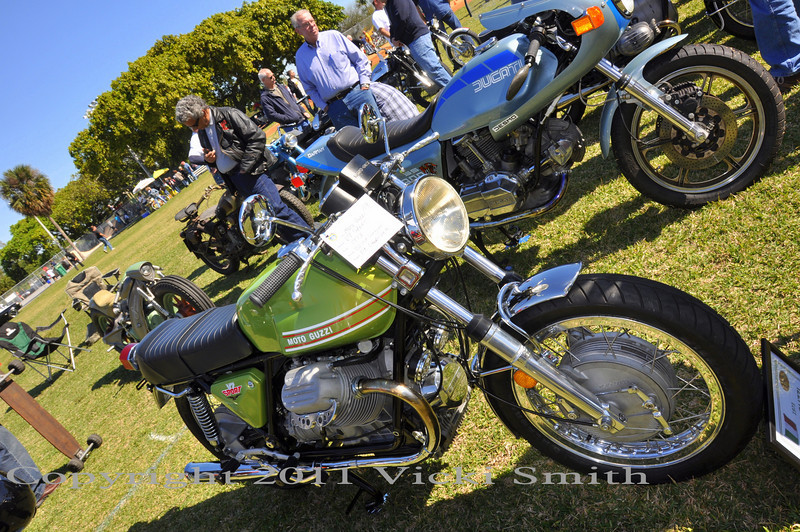 This beautiful Guzzi V7 Sport took home a trophy