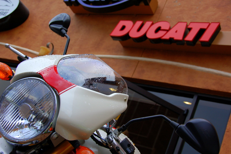 Daytona Ducati, a bright red spot in a traditional sea of black and orange!