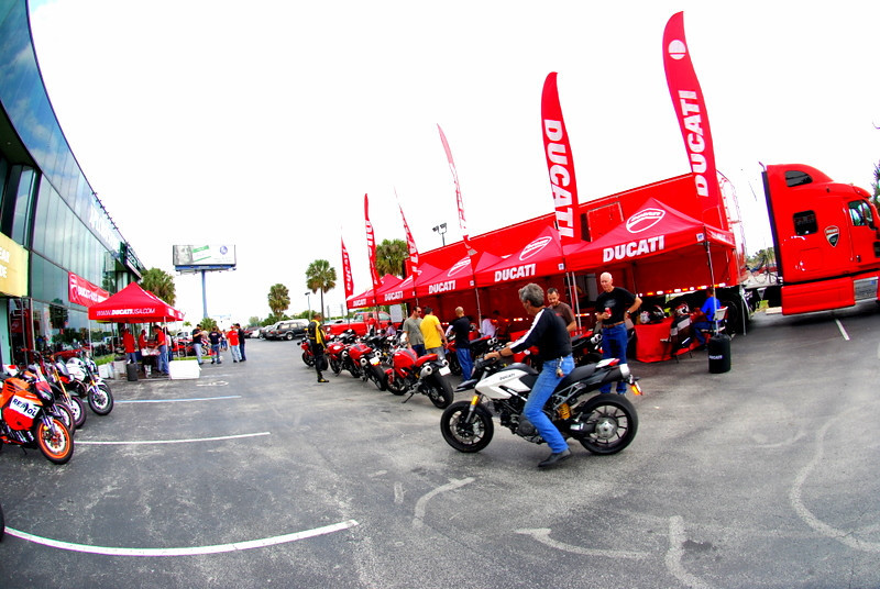 The Demo truck is a special treat.  It's a chance for riders to try out a number of Ducati models back to back.  It was busy all weekend