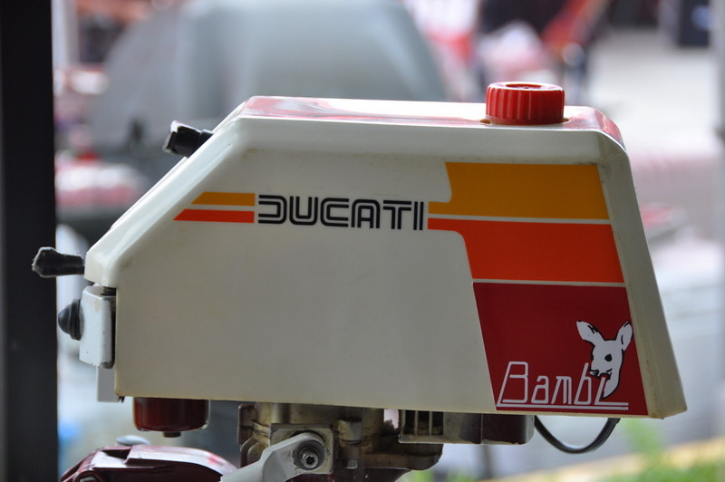 A lot of people are surprised to find out Ducati made these so we brought the outboard to show as well