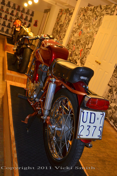 "We displayed a few bikes, they go well with the ""gentleman rogue Duncan Quinn lifestyle"" :-)"