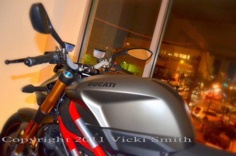 That s new Streetfighter Titanium in the window.  Really looked cool I thought