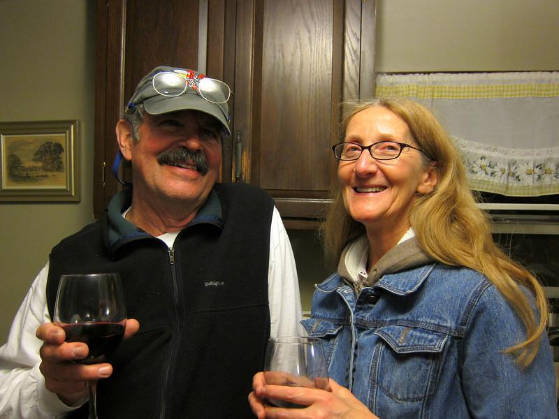 Jim and Jackie - Daytona Bike Week (2009? 2010?) Deland B&B back house.