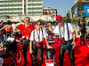 Robin Lawrence, Vicki Smith and Jim Dillard on one of the first Motogiro d'Italia's.  Rimini, Italy (2003?)