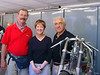 Jim Dillard, Vicki Smith and Mr. Morbidelli, in the private Morbidelli Museum workshop, Pesaro, Italy.