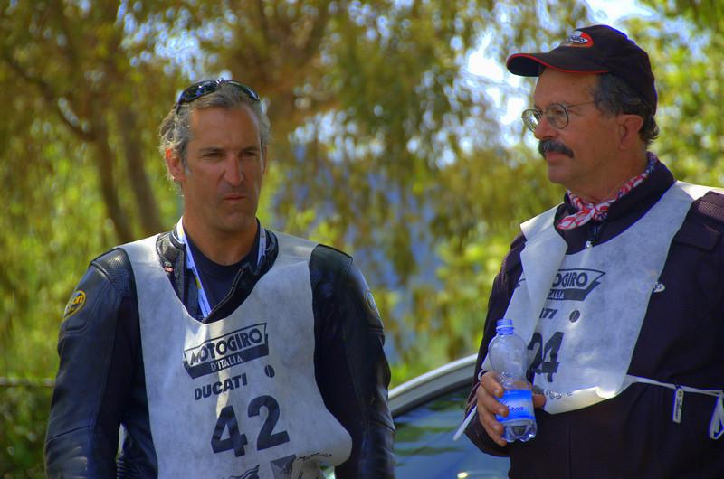 John Gumina and Jim. Motogiro d'Italia Sicily