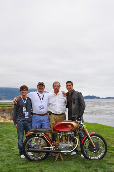 Jim and family - on the 18th green at the Pebble Beach Concours d'Elegence. August, 2011