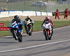 The start of heat race one, 6 bikes took the start - that's Ben Thompson on #907, the eventual winner and pole position holder in his second AMA Superbike race ever.