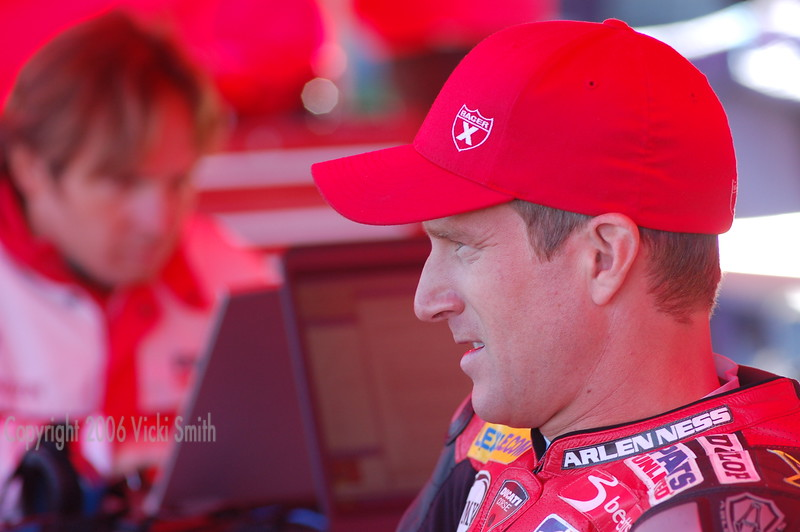 Neil Hodgson. World Champion, great guy and rider of the Parts Unlimited Ducati for the last time this weekend.