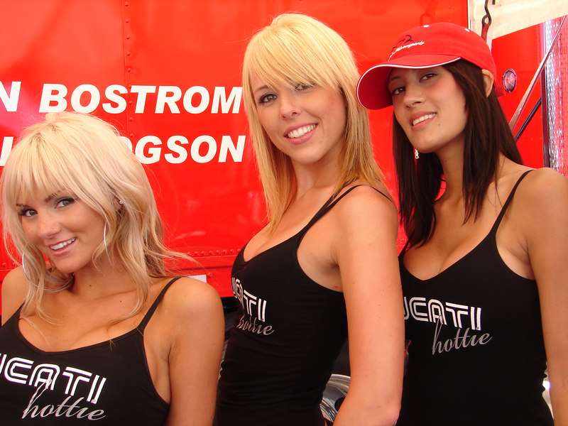 The Salt Lake Motorsports Ducati Hotties.