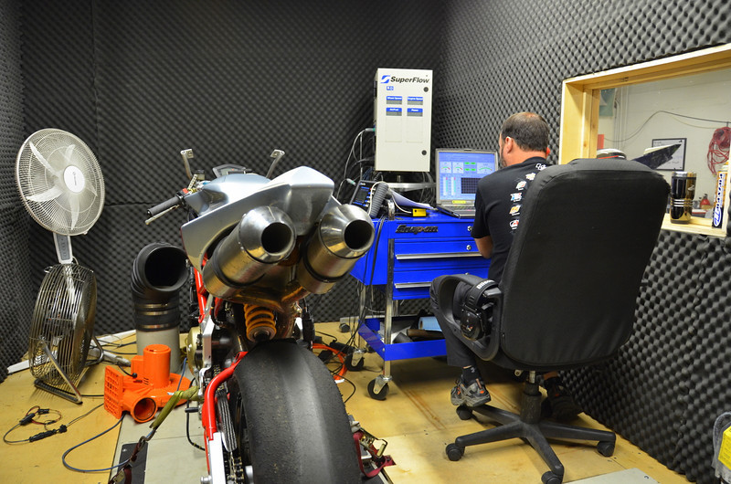 Moto Corse has a dedicated dyno room