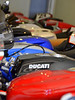 Bikes in residence range from 90's Supersports (a particular favorite) to factory superbikes. On the day I visited there were Bimota's, MV Agusta's and NCR's all keeping the Ducati's company.  It's an impressive display
