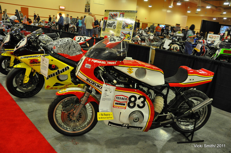 Even modern racebikes with history like these Michael Jordan Suzuki's were all around.
