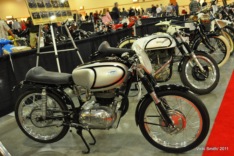 It's fun to see the styling as interpreted by different manufacturers - here an Italian Parilla and a British Norton show iconic is iconic, regardless of what country they come from