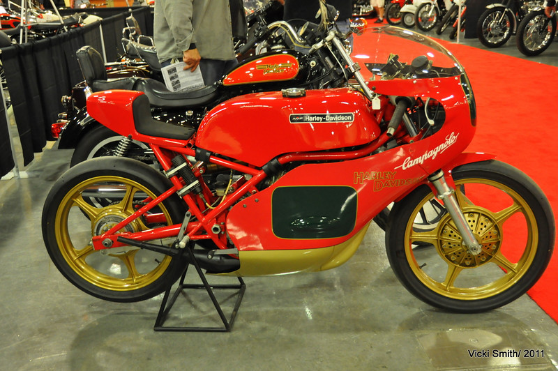 Not all Harley Davidsons weigh 500 lbs, this featherweight racer was a beauty!