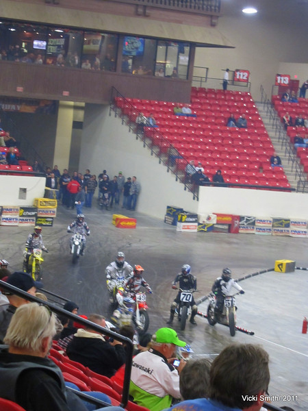 At the end of the day you walked down the hall, paid $20 for two tickets and went to see flat track racing