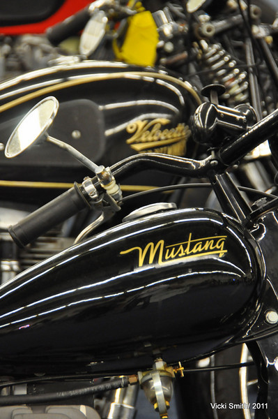From Mustangs to Velocettes, the selection was all over the map