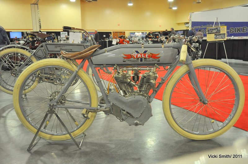Lots of board track racers, the most we have ever seen for sale.  Prices on the real ones, survivors with patina were highest - restorations brought less, and replicas were the deals of the day.  Most all of them found new homes it appeared